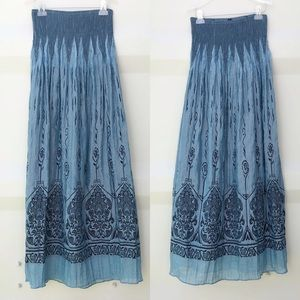 LAPIS one size embroidered dress / maxi skirt
